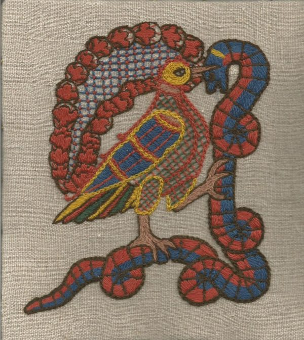 medieval beasts embroidery