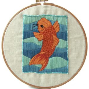 poisson brodé