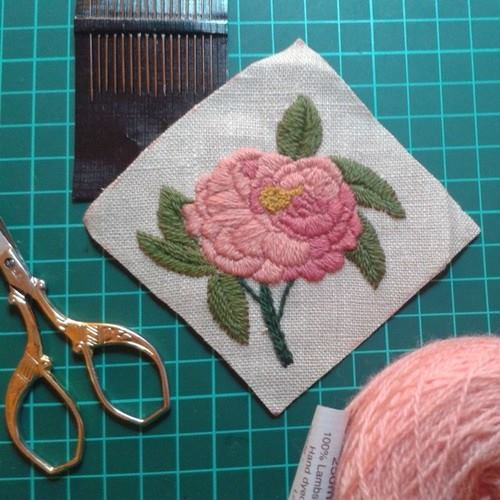 rose embroidery kit