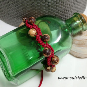 red macrame bracelet