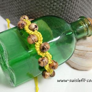 yellow macrame bracelet