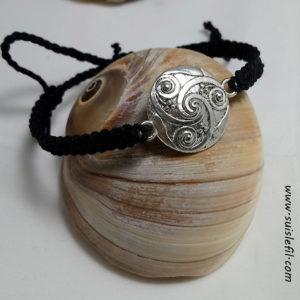 black triskele bracelet