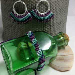 peacock earrings and bracelet