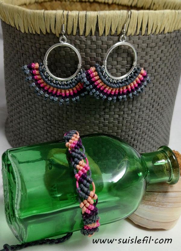 mountain sunset earrings and bracelet