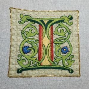 Illuminated I embroidery kit