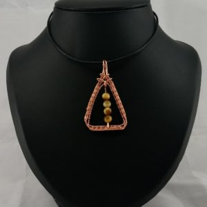 golden tiger eye pendant