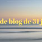 Défi de blog de 31 jours