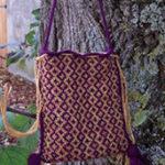 knit medieval bag