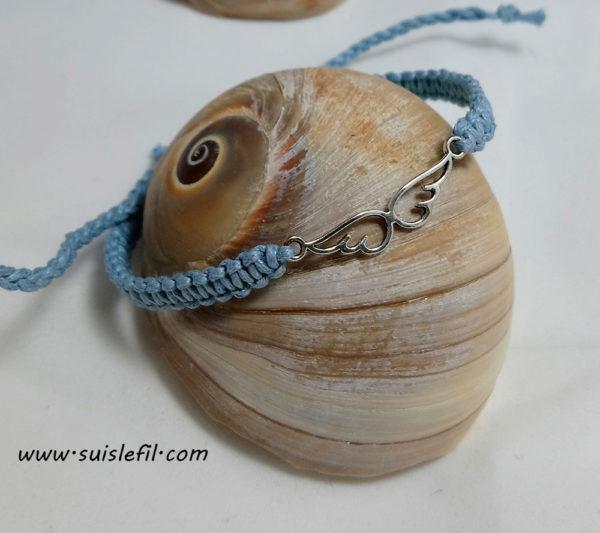 light blue macrame bracelet