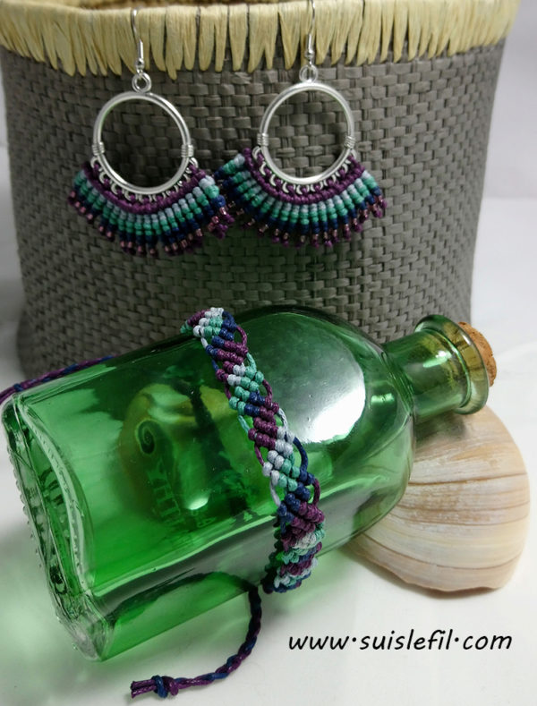 peacock earrings and bracelet