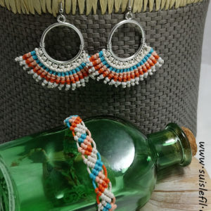 beachy earring and bracelet set