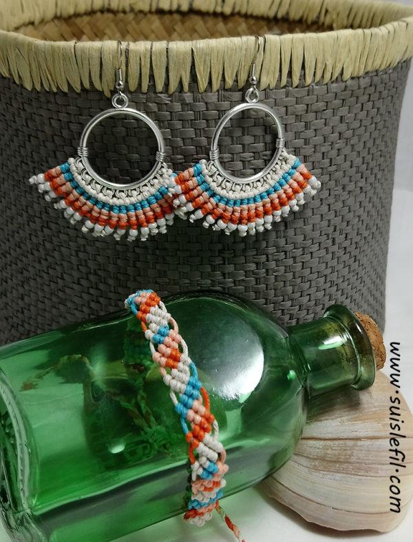 beachy earring and bracelet set