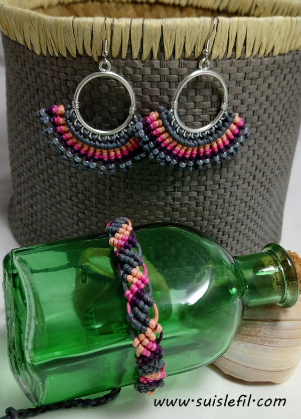 mountain sunset earrings and bracelet