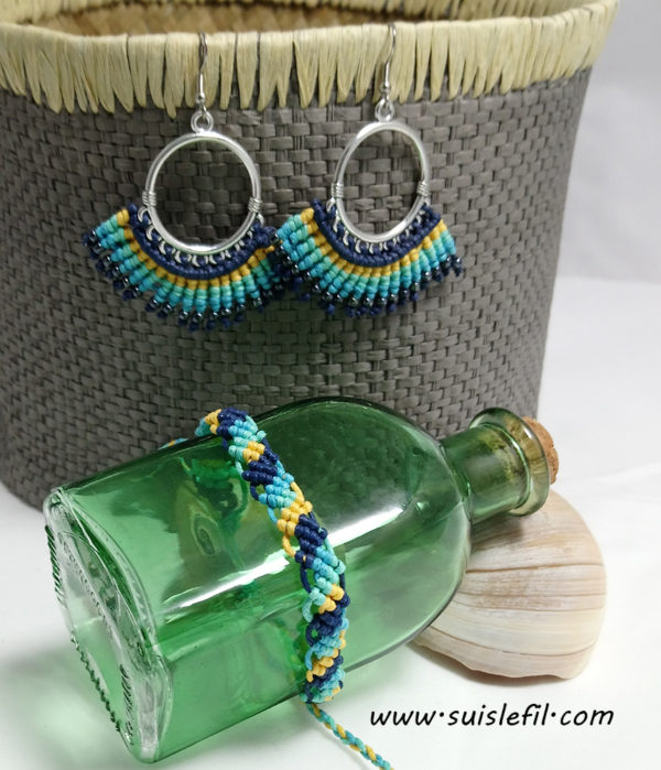 contemporary earrings and bracelet